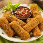Frozen-mozzarella-sticks-in-air-fryer
